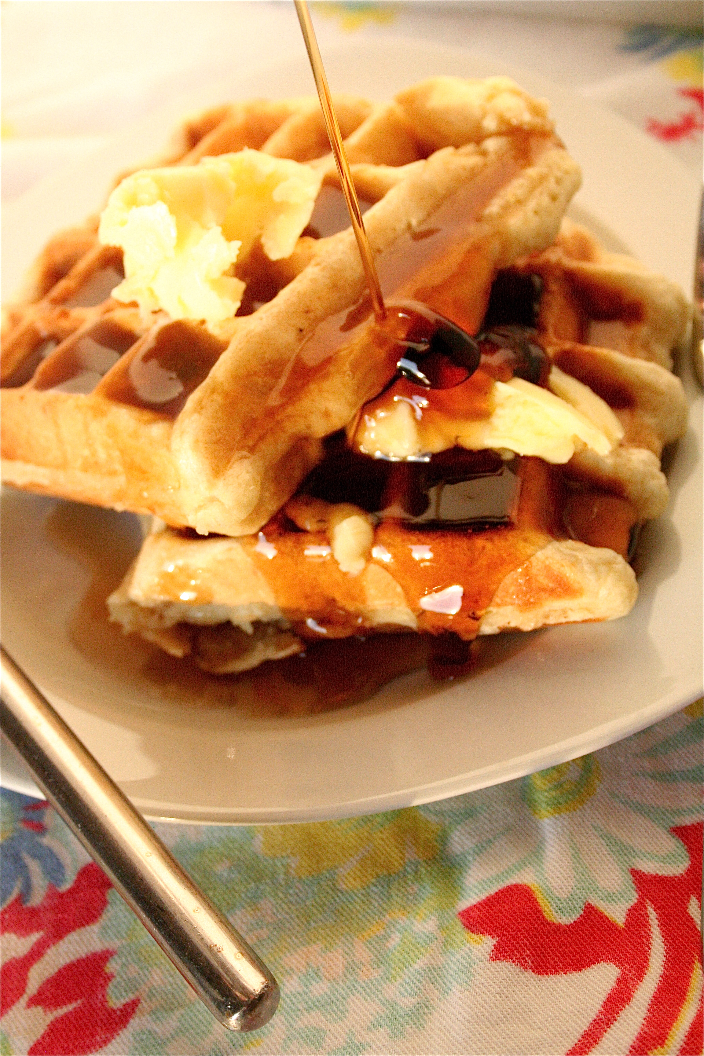 Buttermilk Waffles | The Curvy Carrot