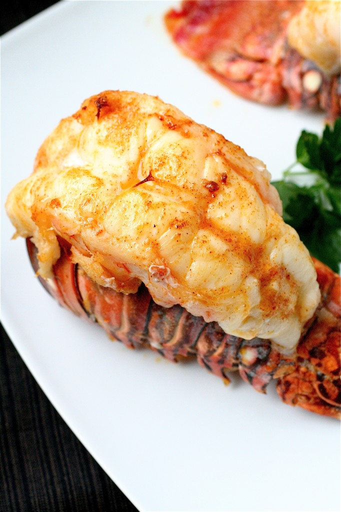 Broiled Lobster Tails With Garlic Butter Sauce The Curvy