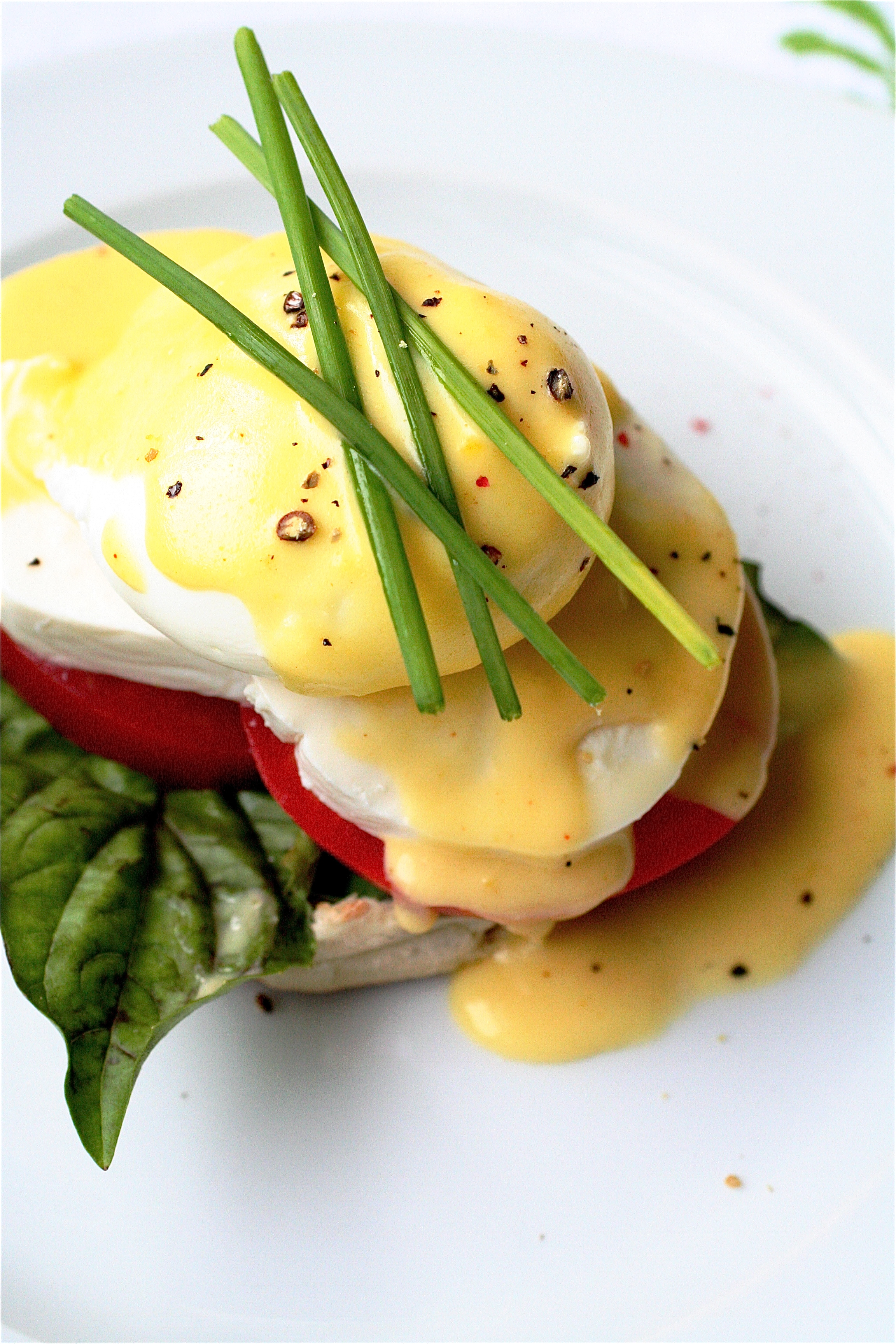 Caprese Eggs Benedict | The Curvy Carrot