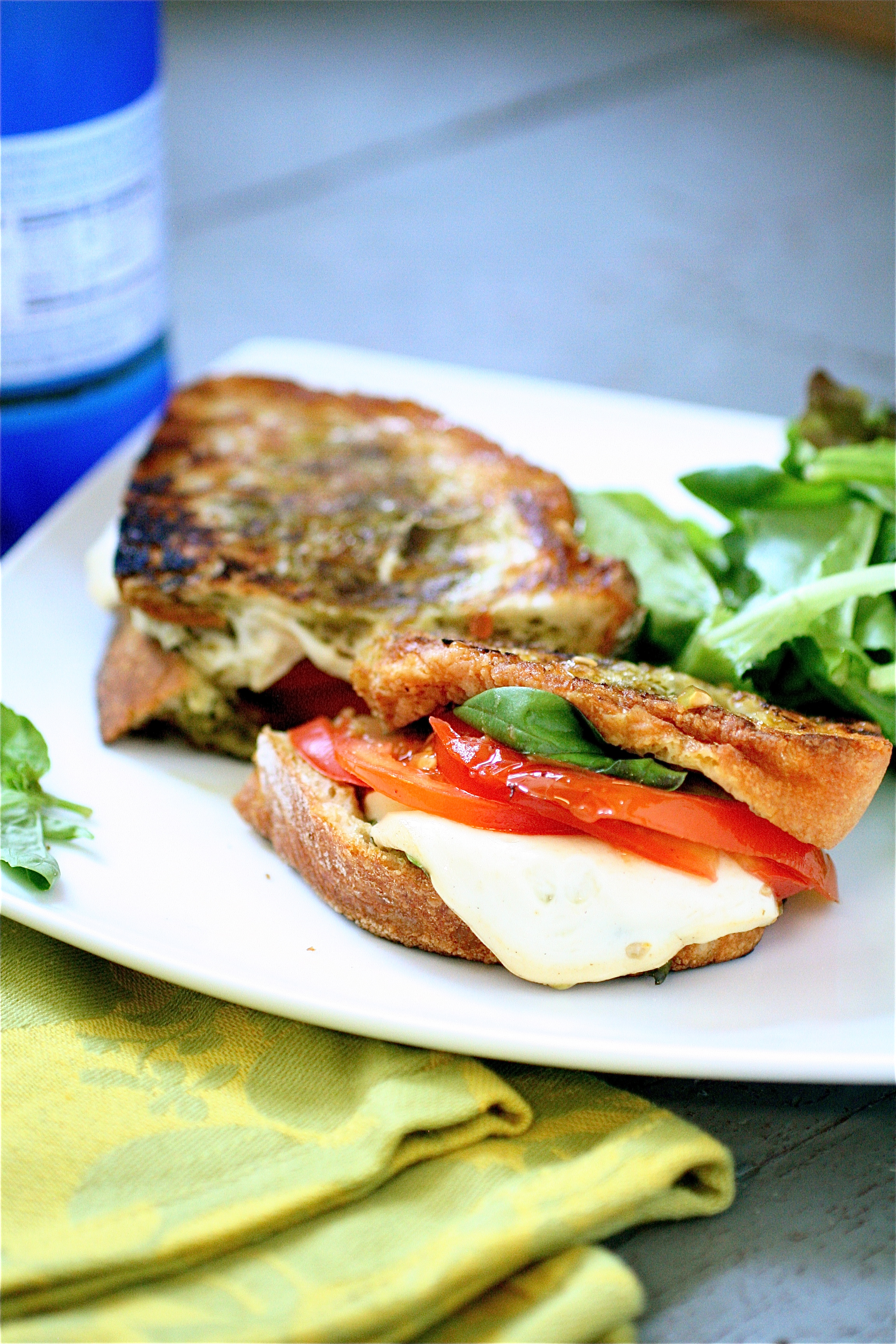 Grilled Smoked Mozzarella And Basil Pesto Sandwich | The Curvy Carrot