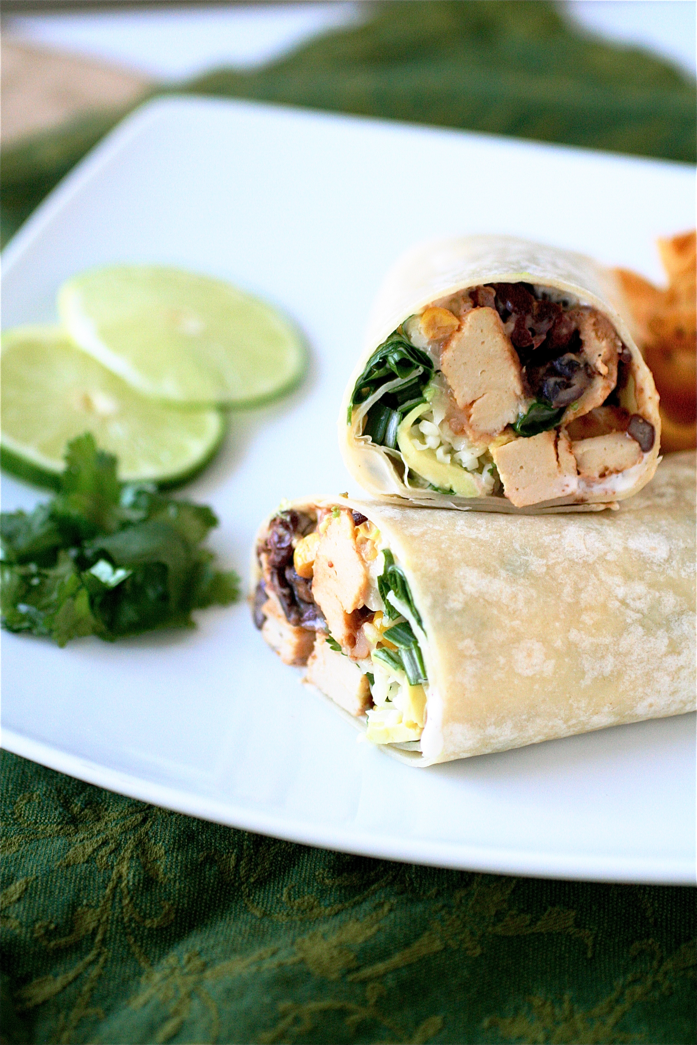 Southwestern Chicken Wraps The Curvy Carrot