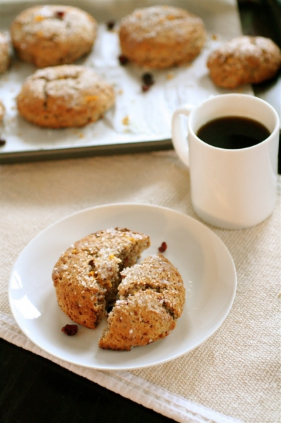 Whole Wheat Persimmon Ricotta Scones Recipe — Dishmaps