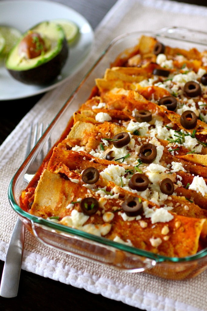Sweet Potato And Black Bean Enchiladas | The Curvy Carrot