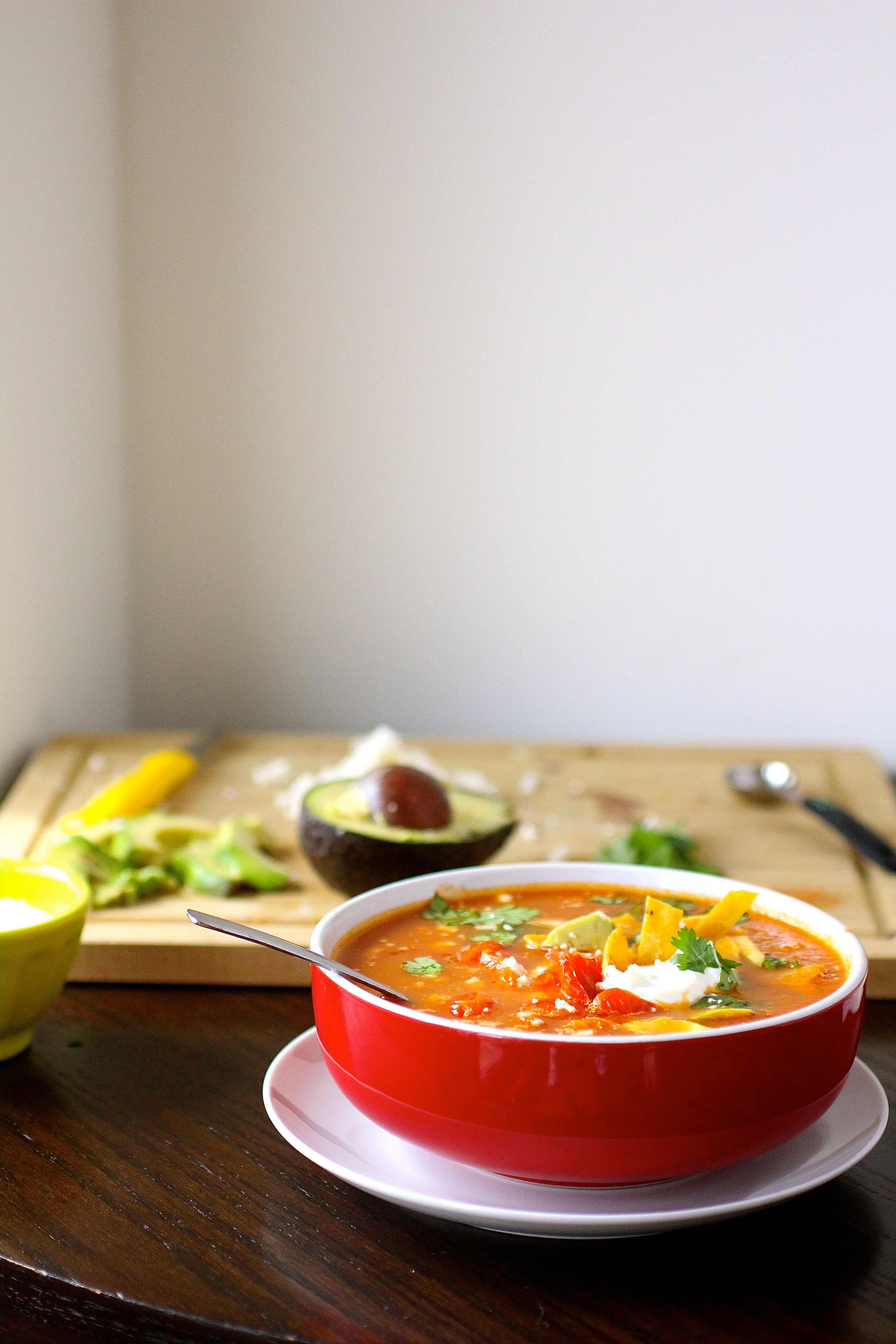 Vegetarian Tortilla Soup | The Curvy Carrot