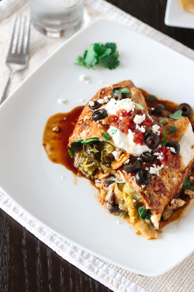 Roasted Vegetable Burritos | The Curvy Carrot