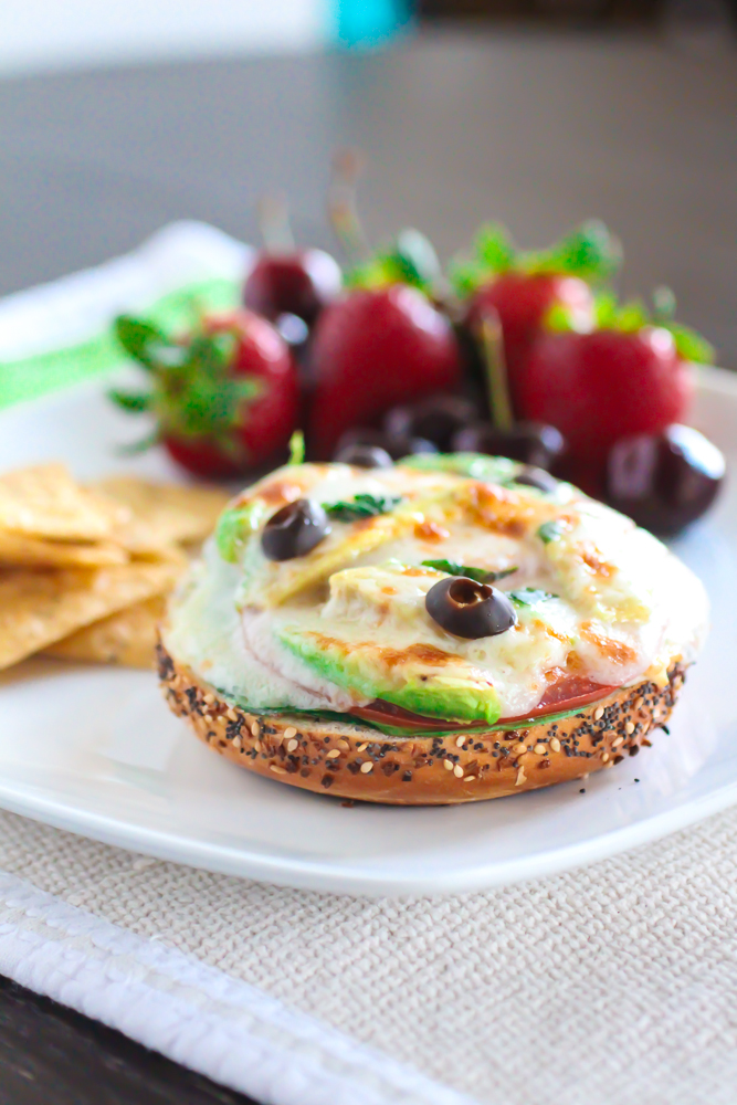 Garden Vegetable Bagel Melts And A Giveaway The Curvy