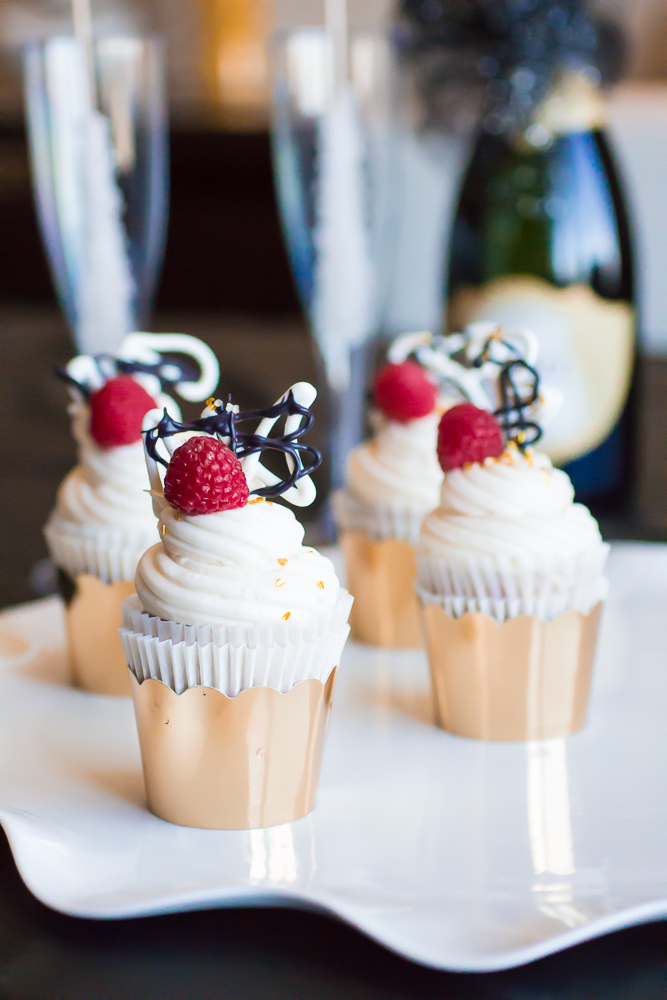 Raspberry Champagne Cupcakes With Champagne Buttercream