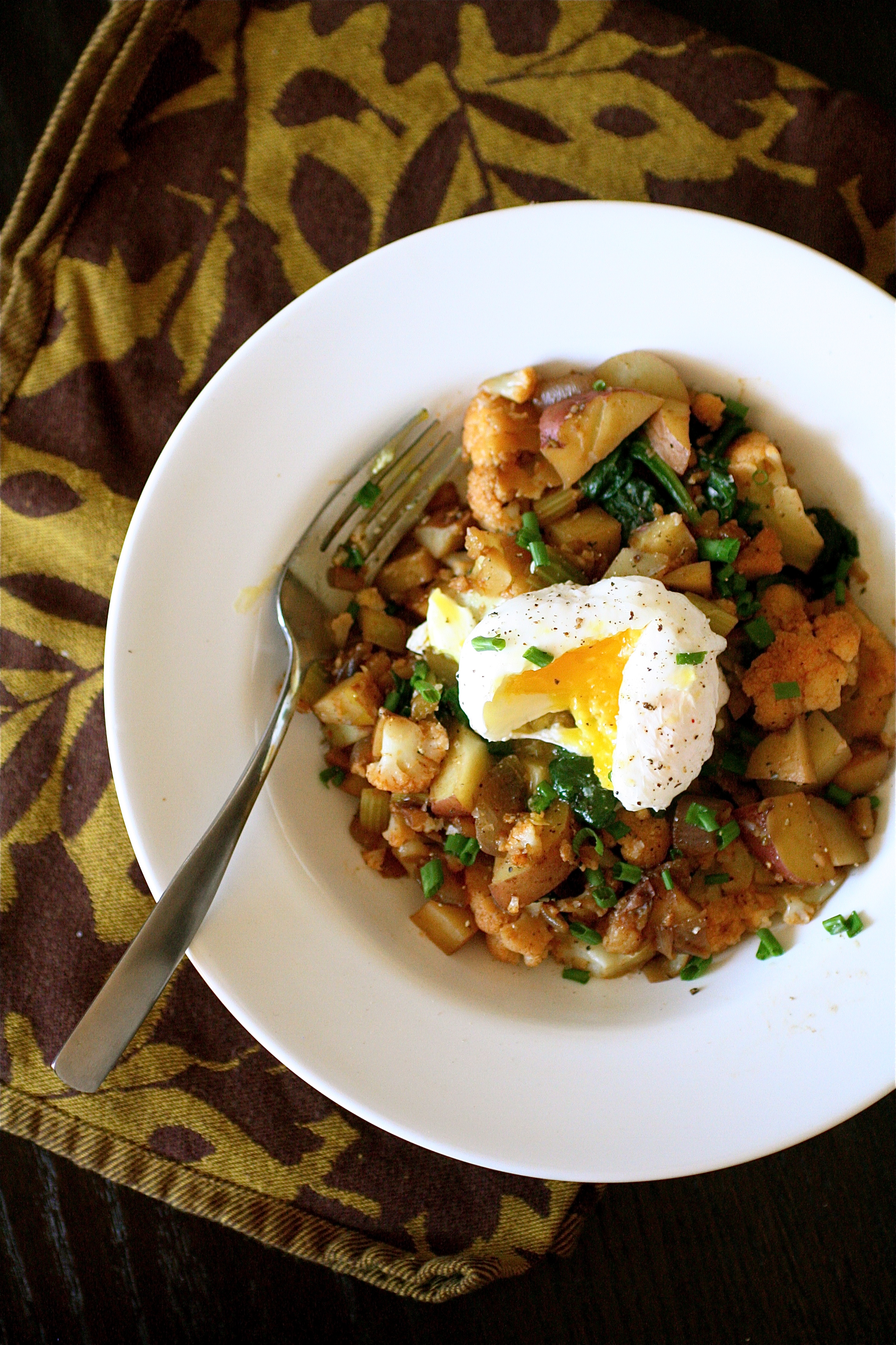 Cajun Cauliflower Hash With Soft Boiled Eggs The Curvy Carrot